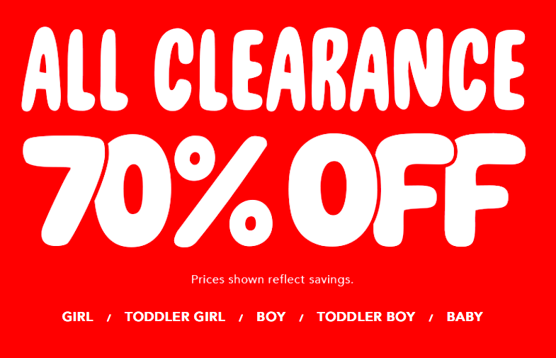 DEAL ALERT – Children's Place – 70% off Clearance